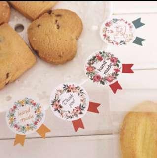 36 pcs Handmade Thank You Sealing Sticker Label Seal Cookie Baking Labels Stickers Kraft Gift Packaging