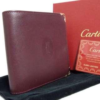 Vintage CARTIER Wallet連盒連卡連塵袋