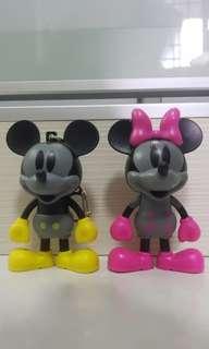 Mickey & Minnie key chain
