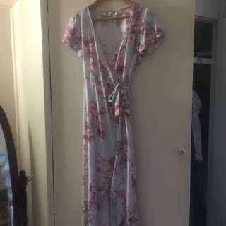 Never Worn Sunny Girl Wrap Dress
