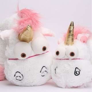 Fluffy cute unicorn plush toy