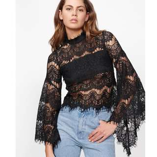 White Lace Mink Pink Top