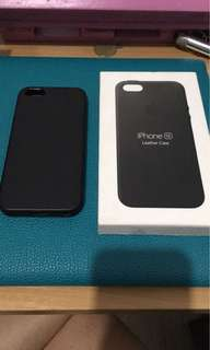 Apple iPhone 5 5S SE Original Black Leather Case