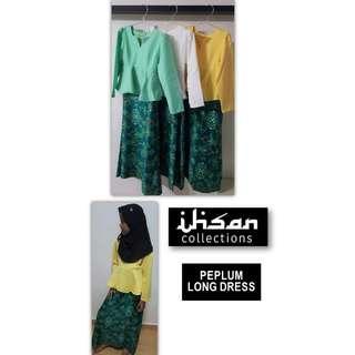 Peplum Long Dress