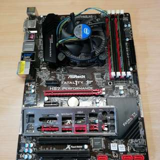 Intel i7 4771 + ASRock H87 Performance Fatal1ty motherboard