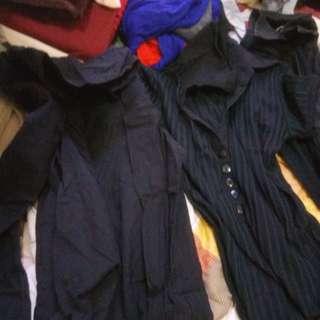 Office wear black long sleeves bundle