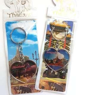 Thailand and Singapore keychains/souvenirs