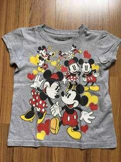 Disney Mickey & Minnie Mouse T shirt (Grey)
