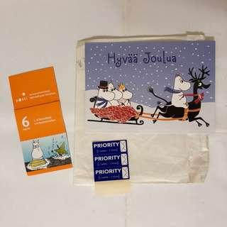 Moomin 姆明郵票及明信片 (購自芬蘭)