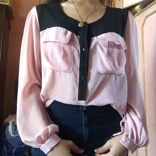 Pink Sheer Longsleeves
