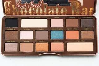 Too faced semi-sweet chocolate bar eyeshadow pallet