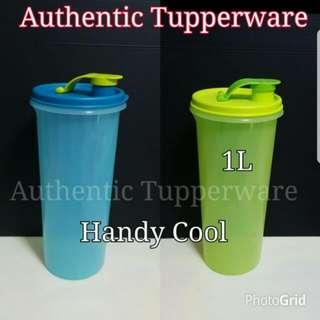Authentic Tupperware  Handy Cool 1L 23.7cm(H) x 10.5cm(D)  《Retail Price S$16.60/Piece》tumbler green blue tupper
