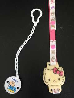 Hello Kitty & Nuk Pacifier Clip