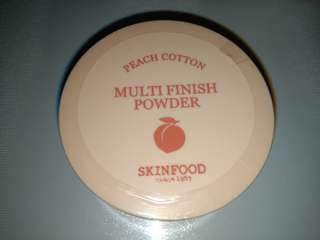 BN SkinFood Skinfood Multi Finish Powder Peach Cotton 15g Can Apply After Foundation Done