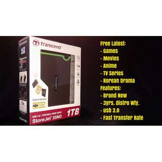1TB Transcend External - 5pcs left