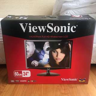"View Sonic 24"" Monitor Full HD Widescreen LCD"