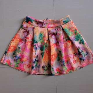 pink art skirt