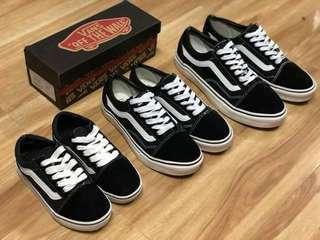 Vans family set shoes