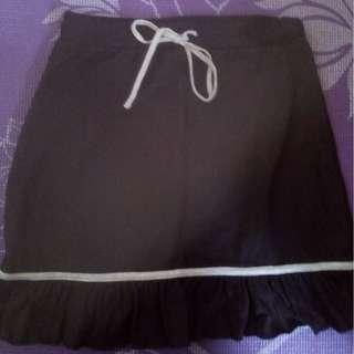Garterized Black Skirt