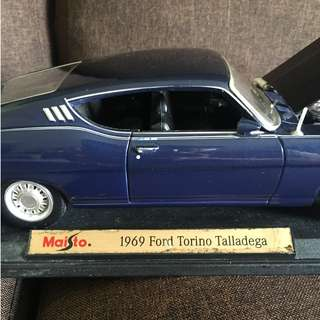 Old Die Cast 1969 Ford Torino Talladega Model car