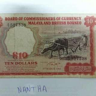 Old Note British malaya  $10