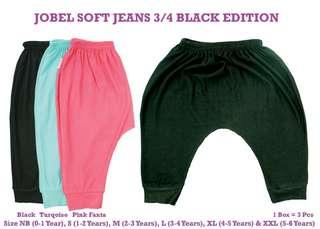 3pc Soft Jeans Baby Leggings / Jogger Pants 3/4