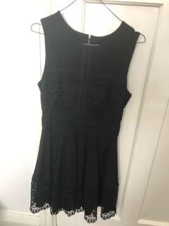 Forever New Black Lace Detailed Dress
