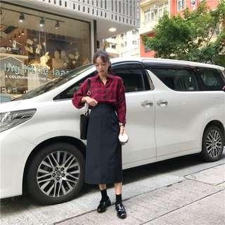 Chic 風 中長裙 長裙 韓風 簡約