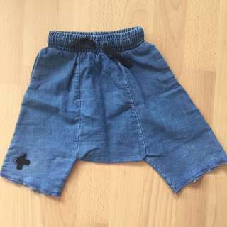 NUNUNU | PL Denim Harem Shorts | Size 18-24m
