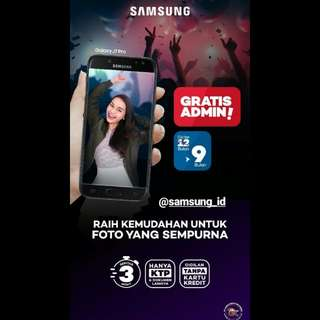 Samsung Tipe J3 J5 J7 pro J7+ bisa cicilan tanpa kartu kredit promo DP free Admin