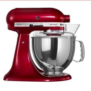 Kitchenaid red stand mixer