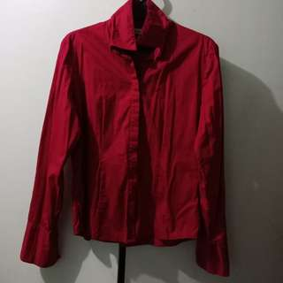 Red Formal Polo Buttondown Corporate