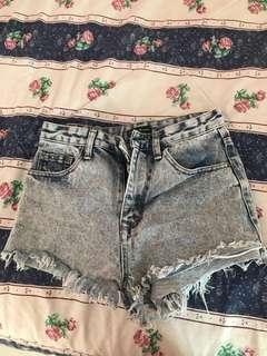 Zalora something borrowed ripped shorts