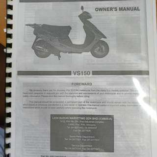 VS150 Owner's Manual