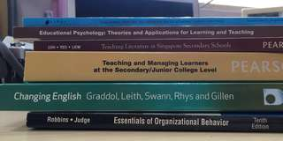 Uni/NIE textbooks (from $10)