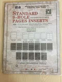 活頁9 hole page inserts