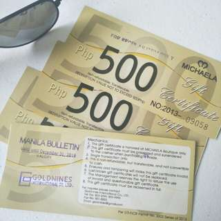 Michaela Gift Certificates worth P2,000