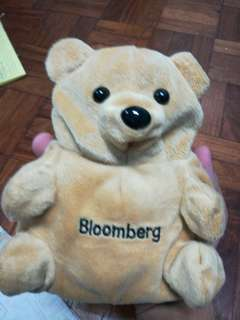 Limitee edition reversible Bloomberg bull and bear puppet