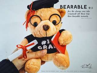 Graduation / Convocation Bear - Bearable