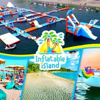 INFLATABLE ISLAND SOAKED all day pass