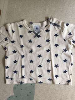 Baby boy petit bateau Long sleeves stars top