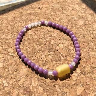 紫雲母月光石蜜蠟手鏈