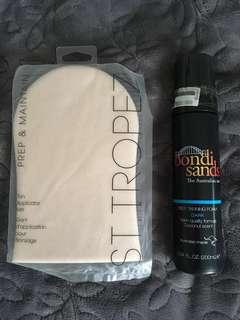 Bondi Sands Self Tanning in Dark and St Tropez Tan Applicator Mitt