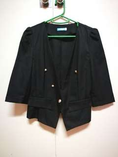 Seventeen black blazer with gold buttons