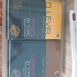 O Level Physics & Chemistry by Topic with model solutions books
