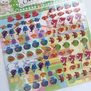 Sea creatures stickers