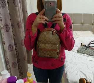 Coach backpack mini