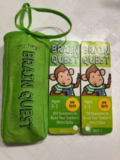 Brain quest ages 2-3 yrs old