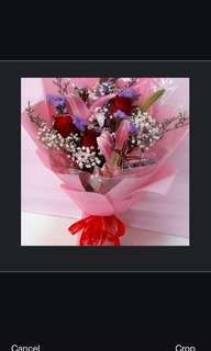 Lily & Kenya roses bouquet