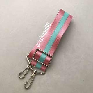 1.5 inch dual color Aquamarine Sakura pink seat belt strap for Jujube